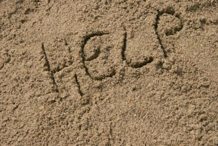 Help_written_in_sand